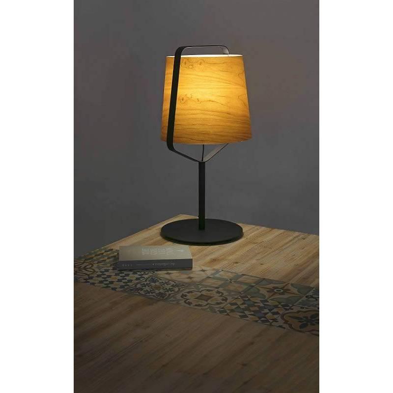 Faro stood 1l e27 table lamp cherry wood faro stood 1l e27 table lamp wood aloadofball Images