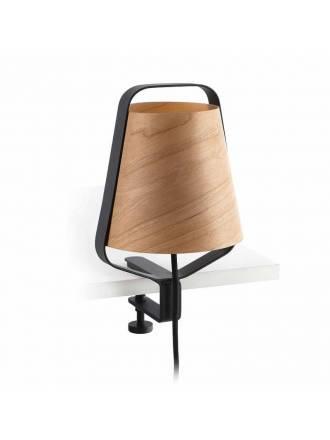 FARO Stood 1L E27 clip lamp wood