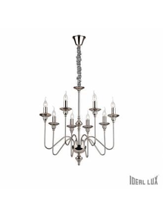 Lámpara colgante Artú 8L níquel - Ideal Lux
