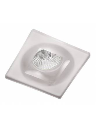 CRISTALRECORD Duna square recessed light white glass