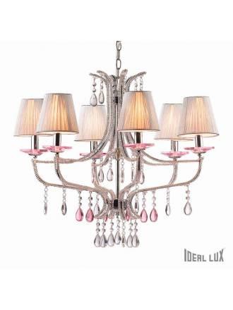 IDEAL LUX Violette 6L glass pendant lamp