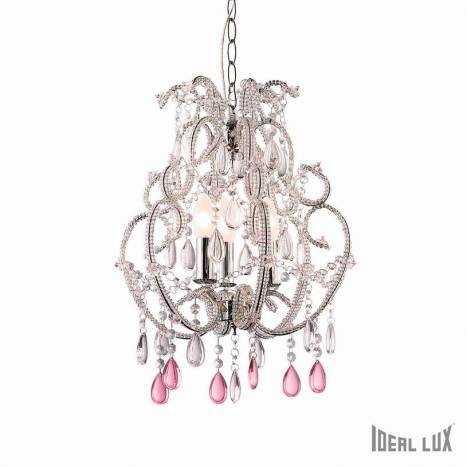 Lámpara colgante Violette 3L vidrio pulido - Ideal Lux