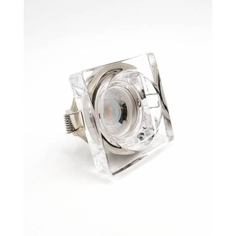 OLE by FM 510 square recessed light clear glass