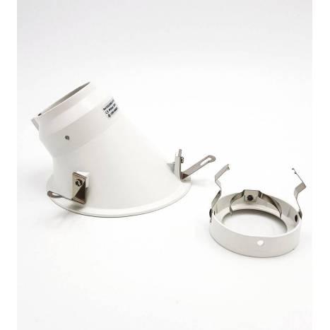 Foco empotrable Vulcano asimetric aluminio blanco de Onok