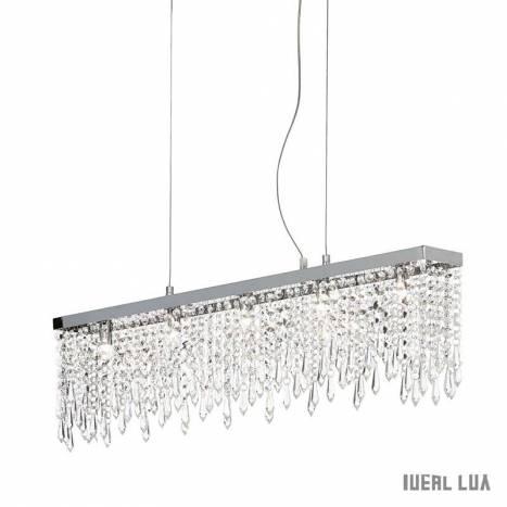 Lámpara colgante Giada Clear 5L cristal - Ideal Lux