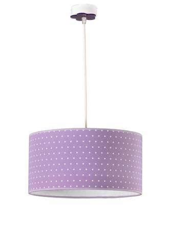 Lámpara infantil Topitos 1L E27 lila - Anperbar