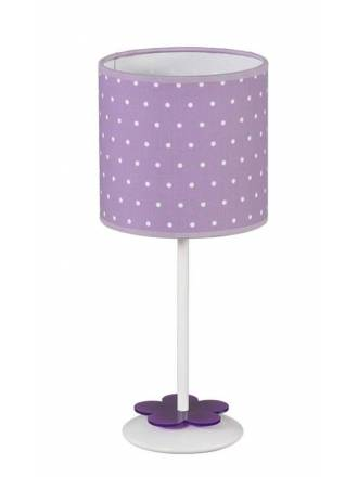Lámpara de mesa infantil Topitos 1L lila - Anperbar