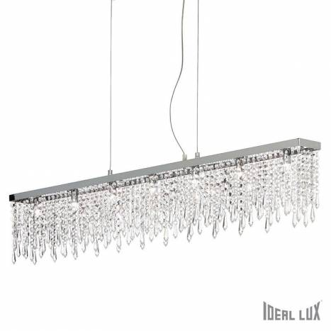 IDEAL LUX Giada Clear 7L crystal pendant lamp