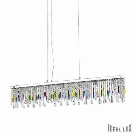 Lámpara colgante Giada Color 7L cristal - Ideal Lux
