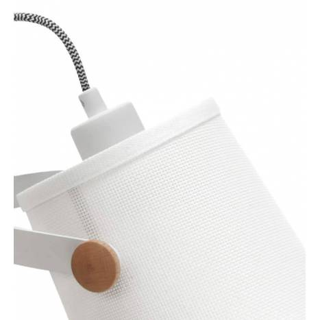 MANTRA Nordic 2 wall lamp double arm fabric white