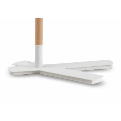 Lampara de mesa Nordica tela blanca de Mantra