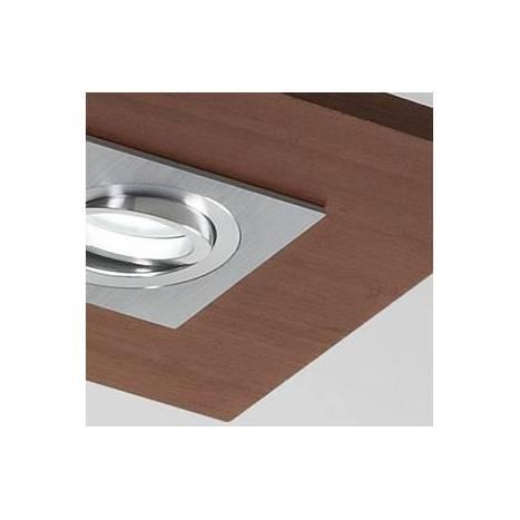 Plafón de techo Solar 3 luces LED GU10 madera - Brilliance