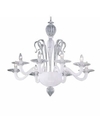 Lámpara colgante Sogno 8L cristal - Ideal Lux