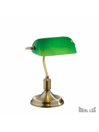IDEAL LUX Lawyer green crystal table lamp