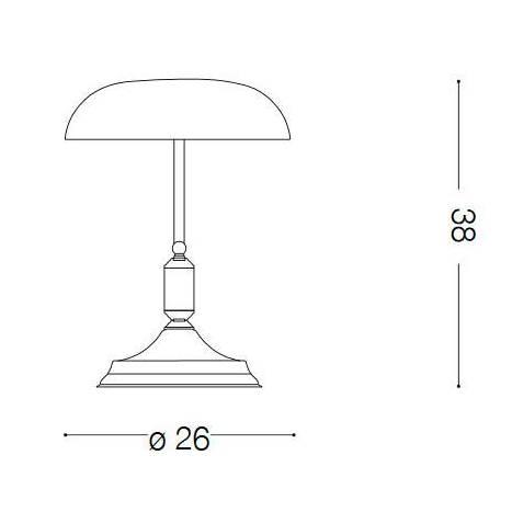 Lámpara de mesa Lawyer cristal verde - Ideal Lux