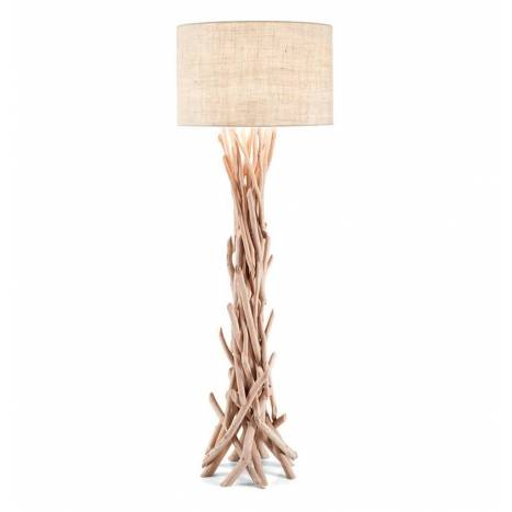IDEAL LUX Driftwood 1L natural floor lamp