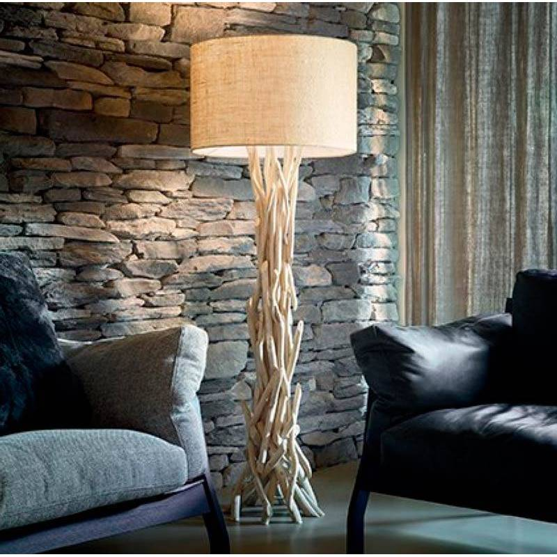 Ideal Lux Driftwood 1l E27 Natural Wood Floor Lamp