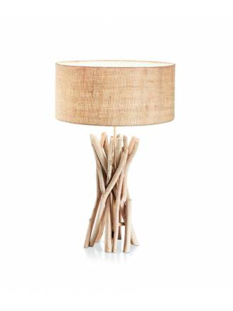 IDEAL LUX Driftwood 1L natural table lamp
