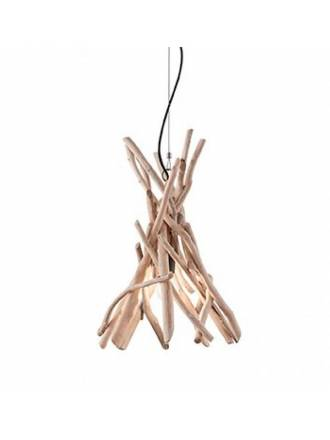 IDEAL LUX Driftwood 1L natural pendant lamp