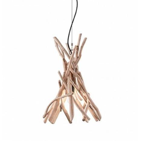 Lámpara colgante Driftwood 1L natural - Ideal Lux