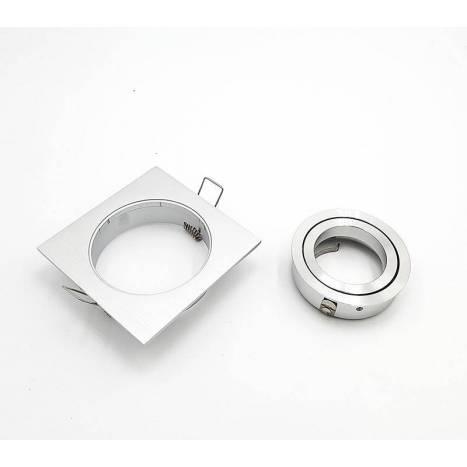 MASLIGHTING 242 square recessed light aluminium