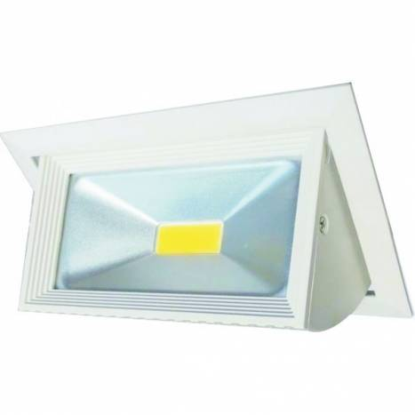 Downlight LED 30w COB abatible metal blanco de Maslighting