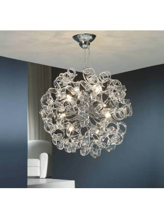 SCHULLER Nova 8L LED 50cm pendant lamp glass