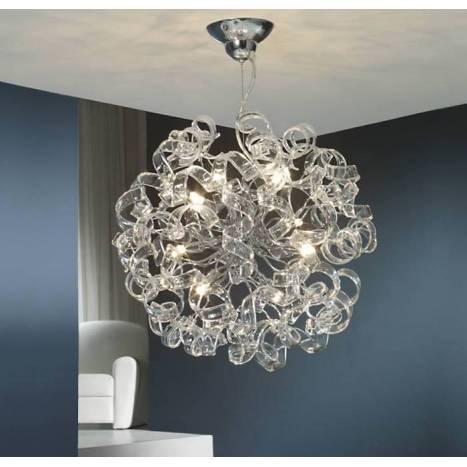 Lámpara colgante Nova 8L LED 50cm cristal - Schuller