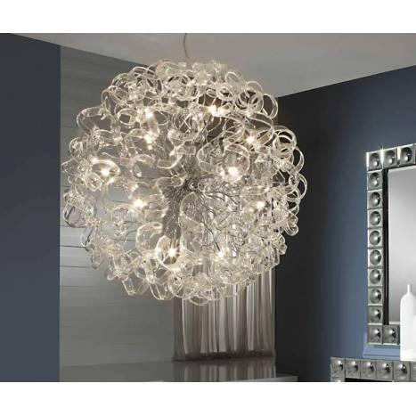 Lámpara colgante Nova 15L LED 80cm cristal - Schuller
