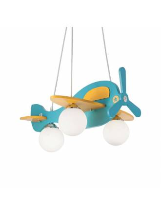 Lámpara infantil Avion 1L madera - Ideal Lux