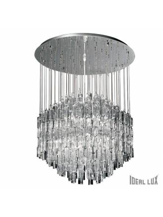 Lámpara suspensión Majestic 10L cristal - Ideal Lux