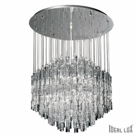 IDEAL LUX Majestic 10L crystal hanging lamp