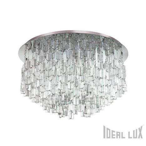 Plafón de techo Majestic 10L cristal - Ideal Lux