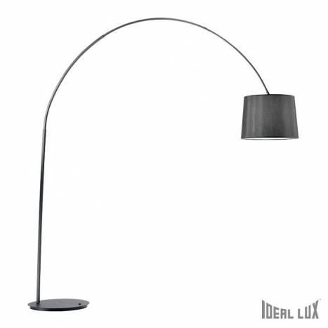 Lámpara de pie Dorsale 1L arco negro - Ideal Lux