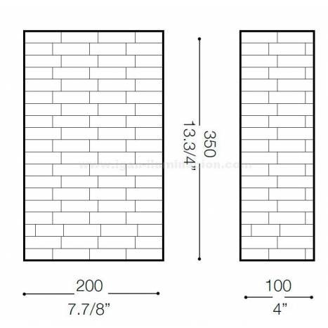 Aplique de pared Scacchi 2L alabastro - Ideal Lux