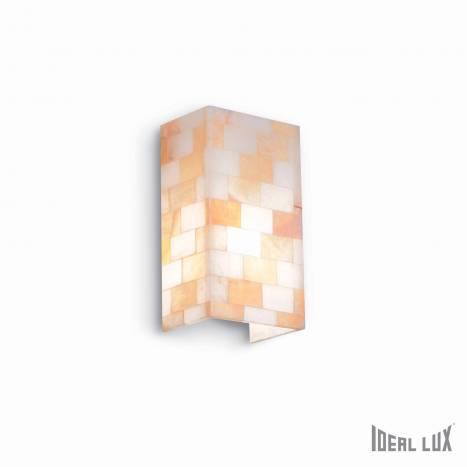 Aplique de pared Scacchi 1L alabastro ámbar - Ideal Lux