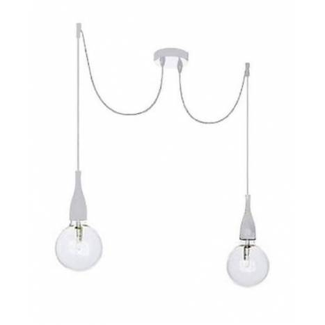 IDEAL LUX Minimal 2L pendant lamp white