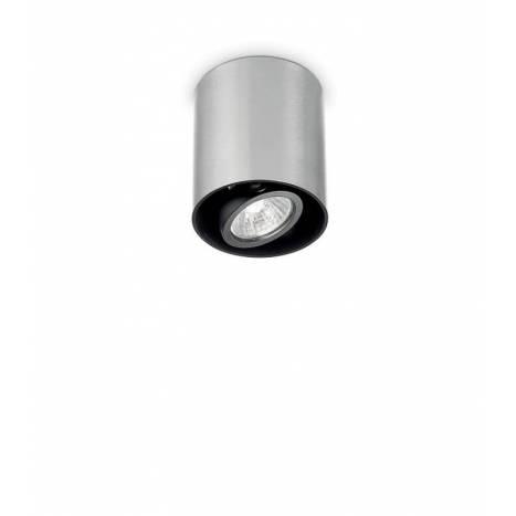 IDEAL LUX Mood GU10 round surface spotlight silver