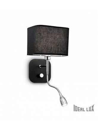 Aplique de pared Holiday E14 + LED 1w negro - Ideal Lux
