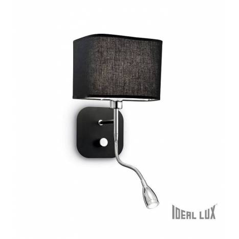 Aplique de pared Holiday E14 + LED 1w negro - Ideal Lux