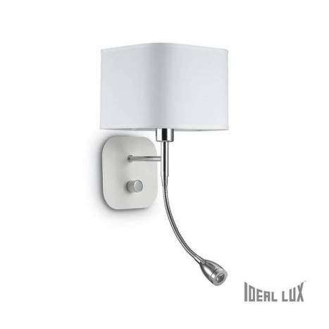Aplique de pared Holiday E14 + LED 1w blanco - Ideal Lux