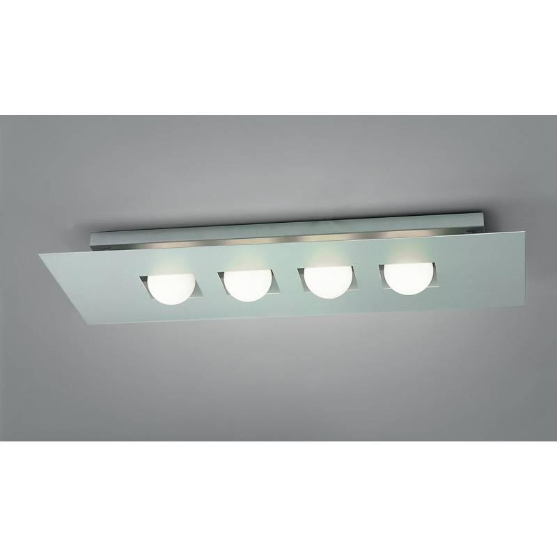 Plafon de techo Cocoon 4 luces plata y cristal de Mantra
