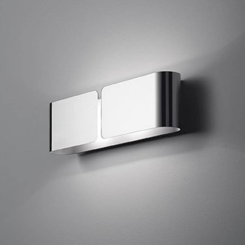 Ideal Lux Clip 2l E27 Wall Lamp Chrome Metal