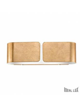 IDEAL LUX Clip 2L wall lamp gold