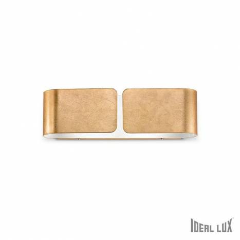 Aplique de pared Clip 2L oro - Ideal Lux