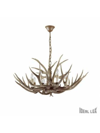 Lámpara suspensión Chalet 8L resina - Ideal Lux