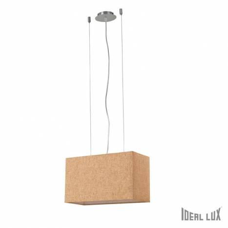 Lámpara suspensión Kronplatz 2L beige - Ideal Lux