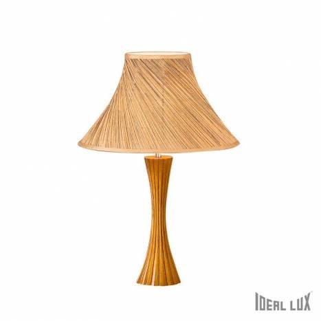 Lámpara de mesa Biva-50 1L cáñamo - Ideal Lux