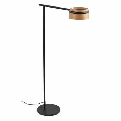 Lámpara de pie Loop LED 6w madera - Faro