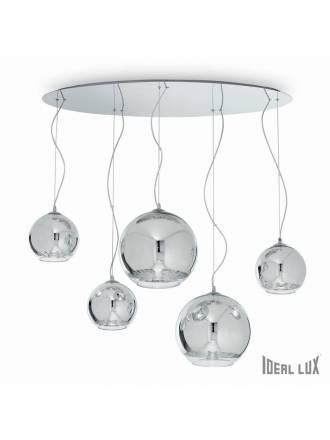Lámpara suspensión Discovery 5L cromo Ideal Lux